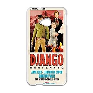 Django Unchained Poster HTC One M7 Cell Phone Case White DIY TOY xxy002_893651
