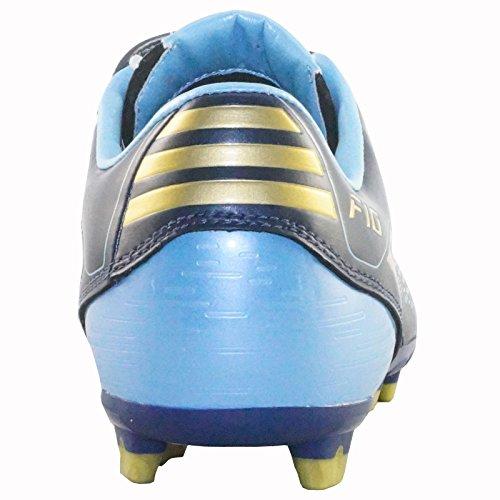 Scarpe Da Calcio Adidas F10 I Trx Fg J G02221 Blu / Oro