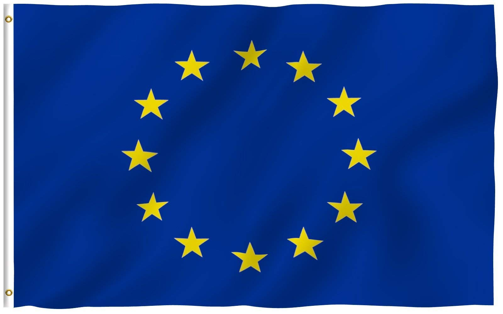 Anley Fly Breeze 3x5 Foot European Union Flag - Vivid Color and Fade Proof - Canvas Header and Double Stitched - EU Flags Polyester with Brass Grommets 3 X 5 Ft