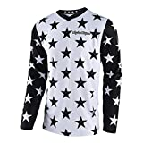 Troy Lee Designs GP Star Men's Off-Road Motorcycle Jersey - White/Black