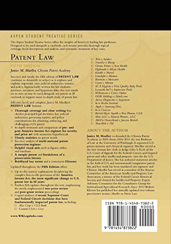 Patent Law (Aspen Student Treatise Series)