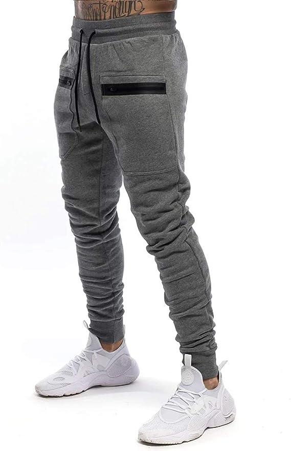 Yidarton – Pantalones de deporte para hombre, de algodón ...