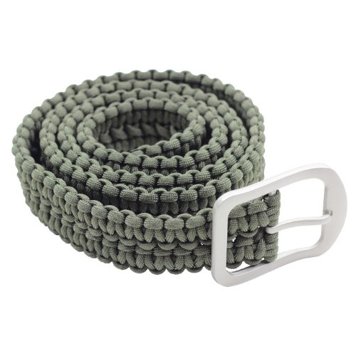 "Milspec 53"" Overall 550 Paracord 7 Insert Belt with Stainless Steel Buckle"