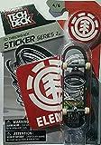 2016 Tech Deck TD Throwback STICKER Series 2 [4/6] - Element Tom Schaar Design Finger Skateboard with Display Stand