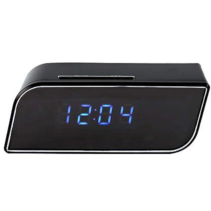 Dightyoho Cámara Espía Oculta WiFi de Reloj Despertador 1080P HD Detección de Movimiento Vision Nocturna Vigilancia