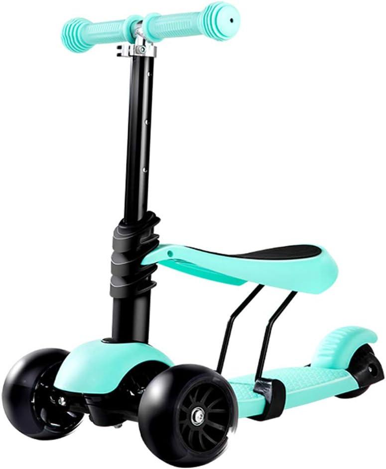 ー子供のスクータ キックスクーター子供のスクーター1-2-3-6歳の自転車調節可能なスクーターは、立つことができることができます