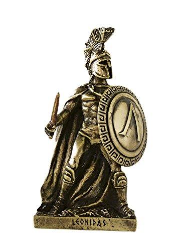 Marinakis Handmade Bronze Plated Leonidas Standing with Shield and Sword