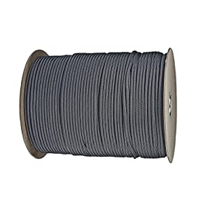Paracord Planet Nylon 7 Type III Strand Inner Core Paracord - 250 Feet, Charcoal Grey