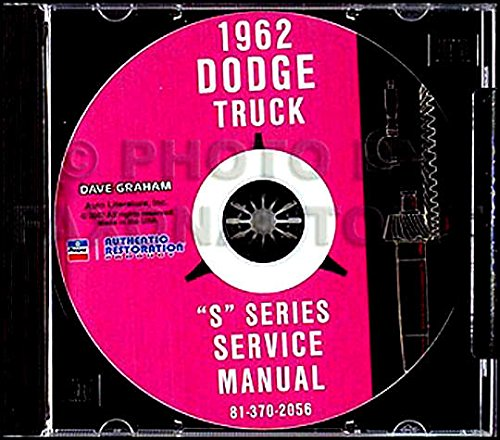 THE ABSOLUTE BEST 1962 DODGE TRUCK & PICKUP FACTORY REPAIR SHOP & SERVICE MANUAL CD - FOR: panel, Power Wagon, Conventional, Forward Control, Bus, 4X4, 6X4, Low Cab Forward, Diesel, D, C, P, S, W, KC, NC, KCT, NCT, & CT