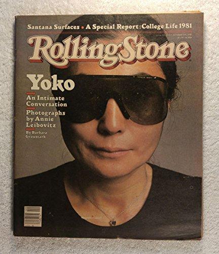 Yoko Ono - Photographs by Annie Leibovitz - Rolling Stone Magazine - #353 - October 1, 1981 - College Life 1981 (Annie Leibovitz Best Photographs)