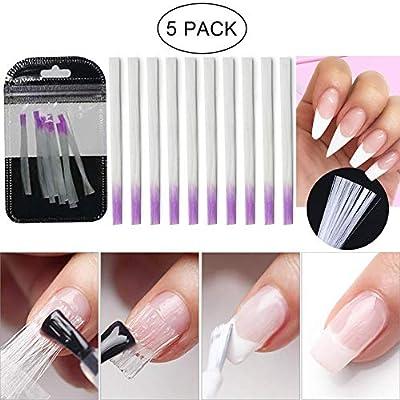 LILYCUTE Fiberglass Nail Form for Nail Art Quick Extension Nail Art Equipment Fibernails Building UV Gel Tool