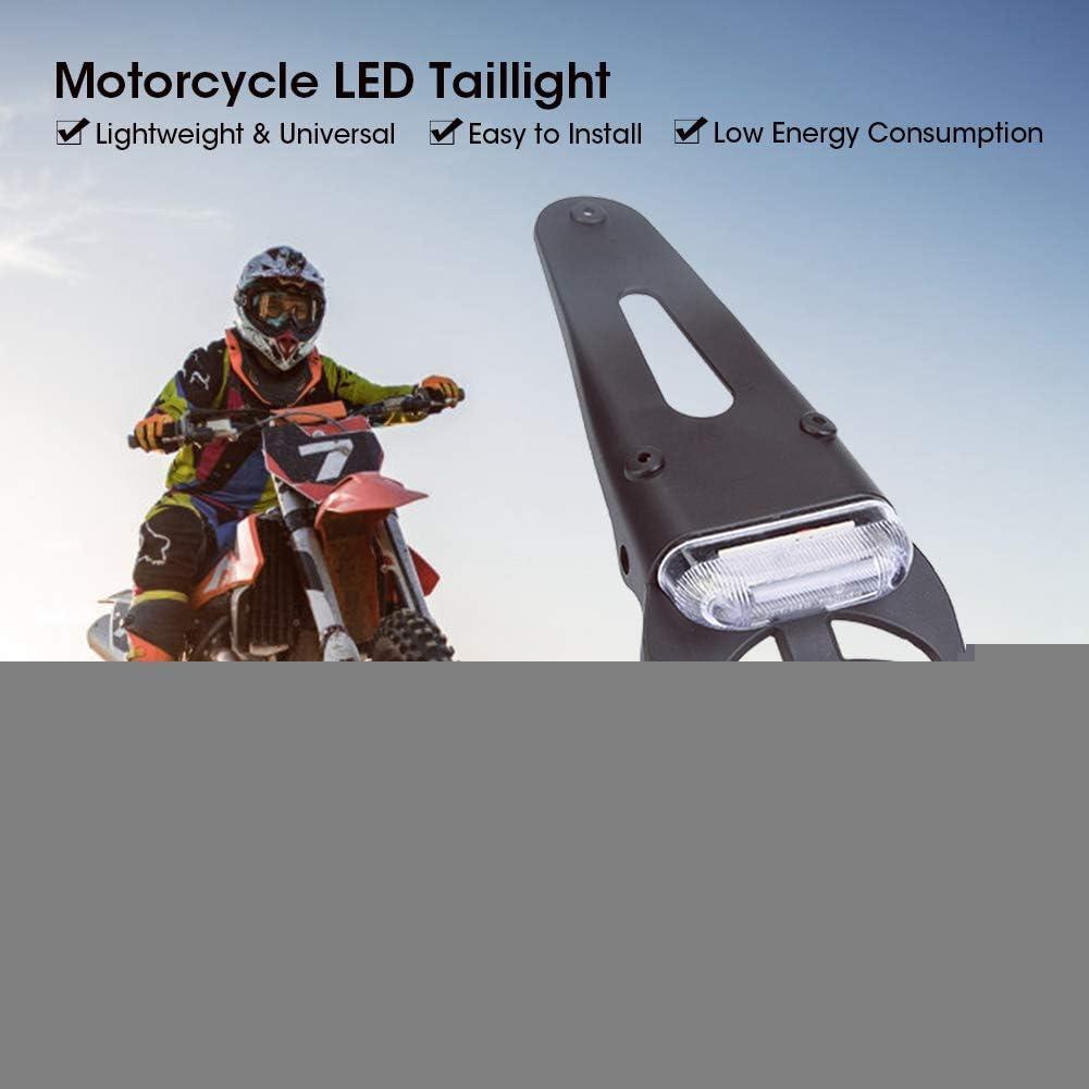 Motorcycle Brake Tail Lights LED Assemblies Sport Light Rear Fender License Plate Lights For Dirt Bike Silver