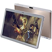 10 Inch Tablet PC Unlocked 3G Phone, Android 7.0 GPS Octa Core,HD 1280X800 IPS TouchScreen with Bluetooth,RAM 4GB ROM 64GB Dual Sim Card Support 2G 3G Wifi Dual Camera