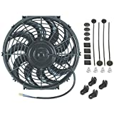 "American Volt 12"" Inch Universal Automotive Electric Radiator Cooling Fan 12v Curved Blade New"