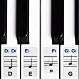 Piano Stickers for Keys ? Removable w/ Double Layer Coating for 49 / 61 / 76 / 88 Keyboards