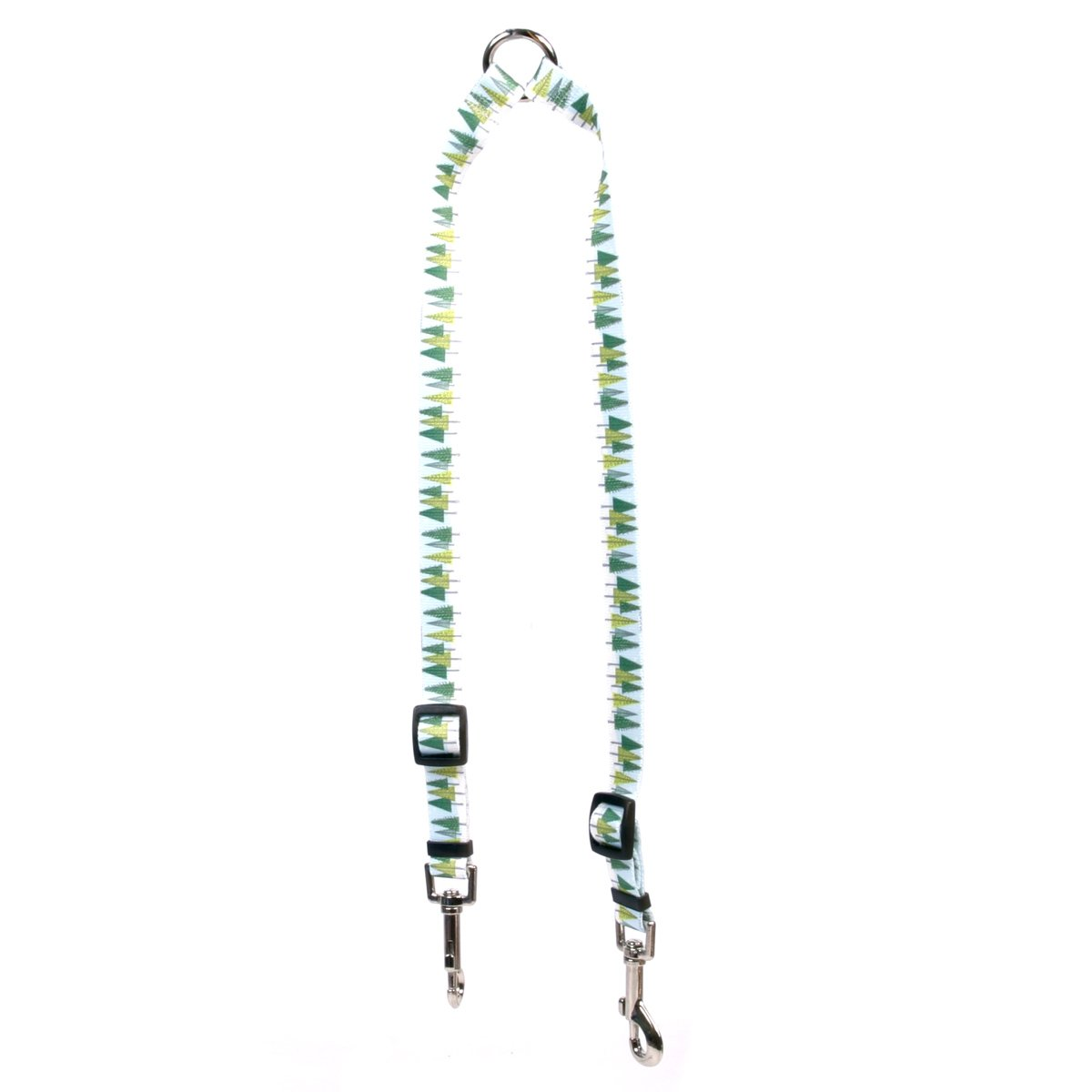 Yellow Dog Design Winter Trees Coupler Dog Leash-Size Medium-3/4 inch Wide and 12 to 20 inches Long