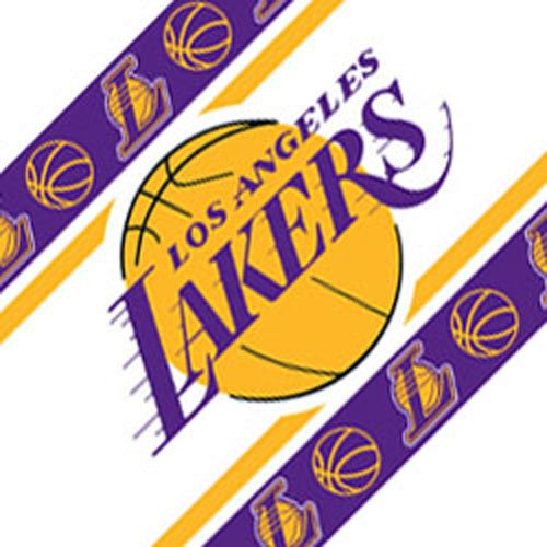 Four NBA Los Angeles Lakers Self Stick Wall Border by NBA