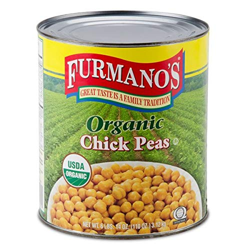 (TableTop King #10 Can Organic Chick Peas (Garbanzo Beans) - 6/Case)