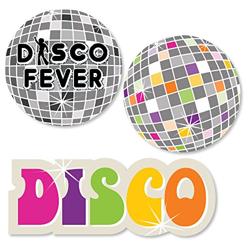 Big Dot of Happiness 70's Disco - DIY Shaped 1970's Disco Fever Party Cut-Outs - 24 -