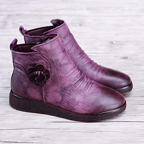 Flat Boots Cotton Violet Boots Bottomed Cotton Boots Winter Warm AGECC Women'S Snow tq7HX0w