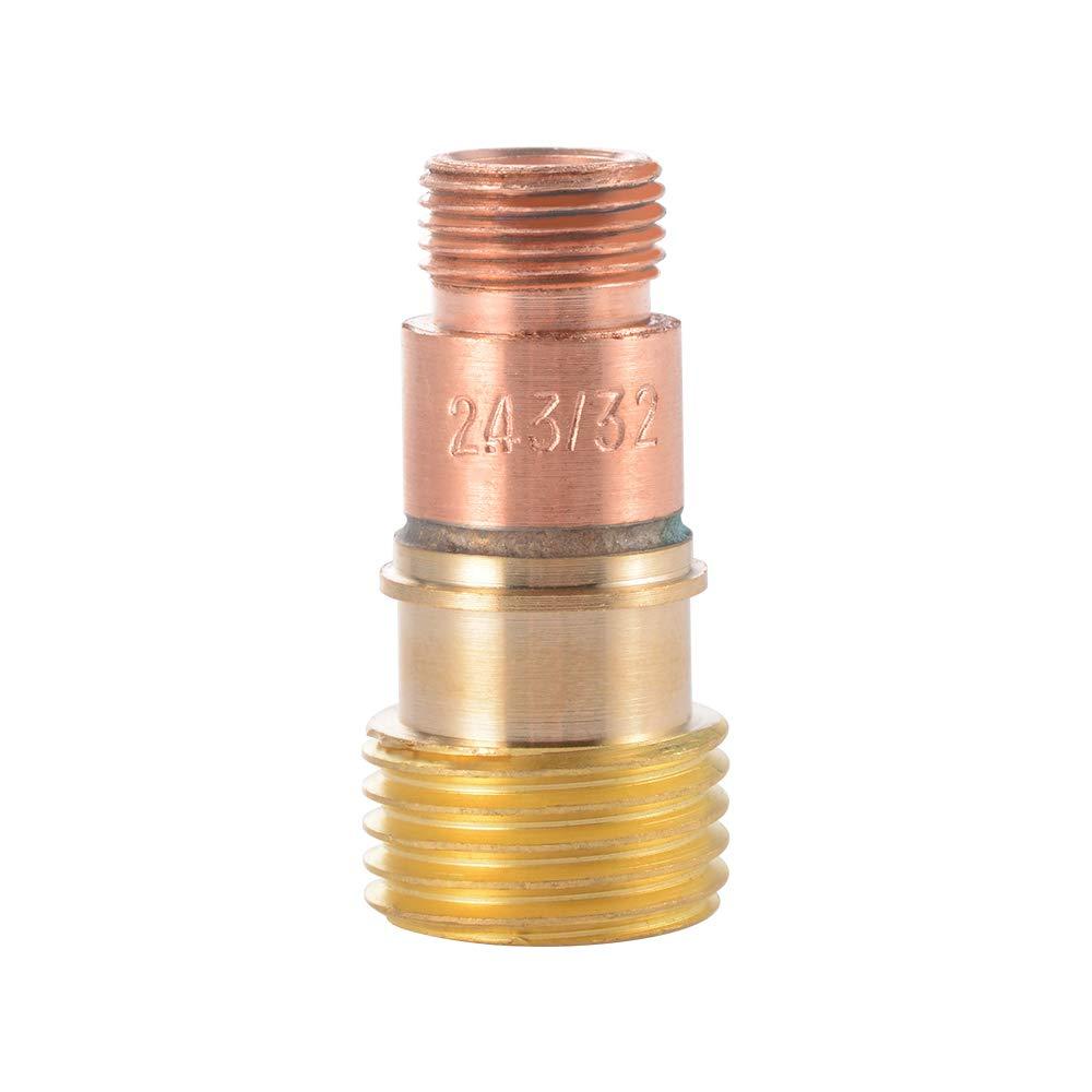 Kreema 30pcs TIG soudage torche buse gaz tungst/ène stubby lentille verre pyrex kit de tasse pour WP-17//18//26