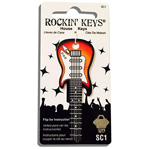 - Rockin' Keys Sunburst Electric Guitar Shaped SC1