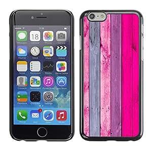 Cubierta de la caja de protección la piel dura para el Apple iPhone 6PLUS (5.5) - pattern vertical pink