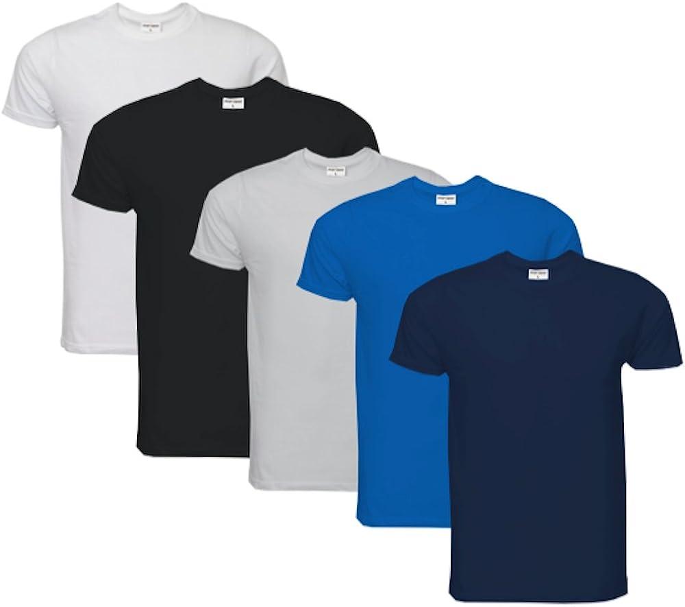 Raftaar/® Lot de 4 t-shirt unisexe 100 /% coton l/éger /à manches longues et manches longues Blanc