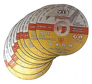 25 unidades de discos de corte para acero inoxidable 125 x 1 ...