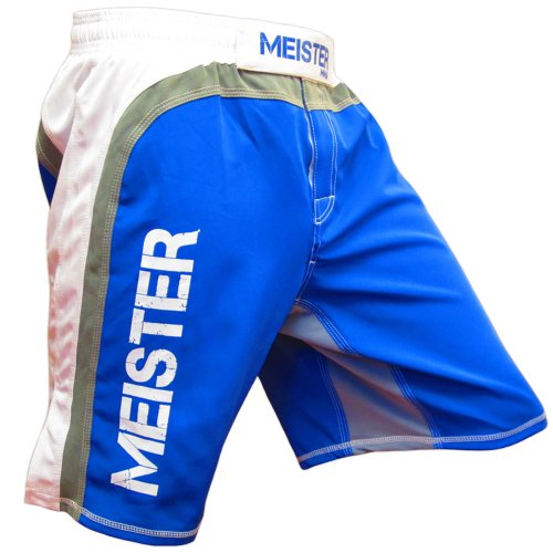 Meister MMA Hybrid Flex Board Shorts - Blue/White - 35/36 ()