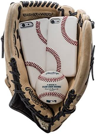 mcmadley Baseball Phone Case for iPhone 7 Plus / 8 Plus, Made with MLB Baseball Leather and Raised Stitch, Ultra Thin, Protective Grip, Light Weight, Perfect Apple iPhone Fit