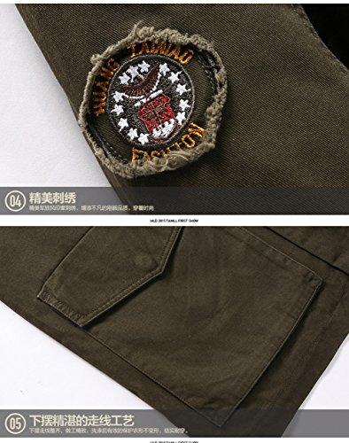 Fit Giacca Casual 8928 Cotone Szyysd Leggero In Uomo Green army Slim Militare Da tdTBqz