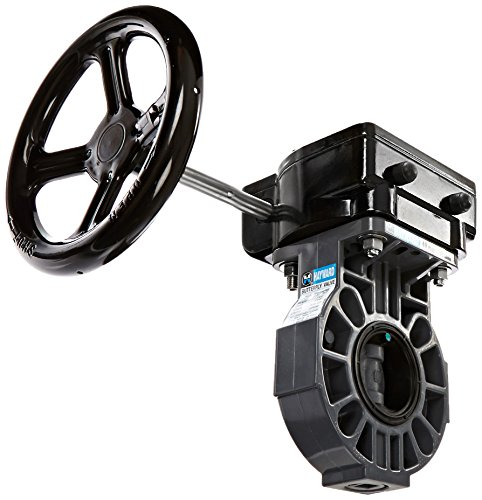 Hayward BY110200EGA 1-1/2 and 2-Inch PVC BY-Series Gear Operated Butterfly Valve