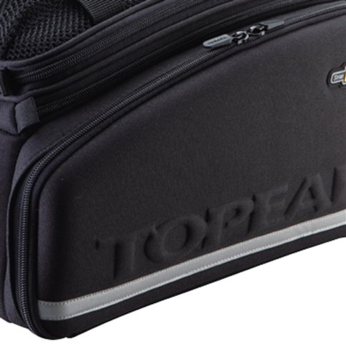 Topeak TrunkBag DXP Strap Gepäckträger Tasche Fahrrad 22,6 L RX System Spanngummi Flaschenhalter, 15009026