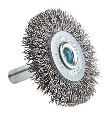 Forney 60013 Wheel Brush, Coarse Wire with 1/4-Inch Shank, 1-1/2-Inch