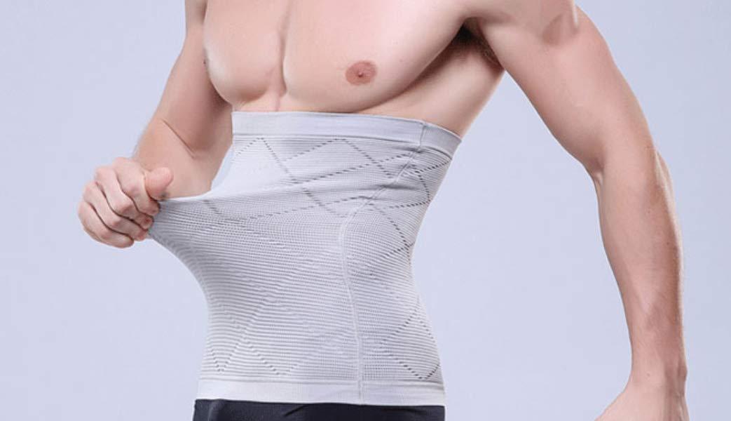 ead3da2d15c Amazon.com   Men s Waist Control Belt Shaping Band Corset Tummy Control  Shapewear Elastic Slimming Belt (XL