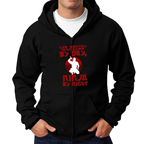 Price comparison product image Teeburon Car Rental Manager by day, ninja by night Zip Hoodie
