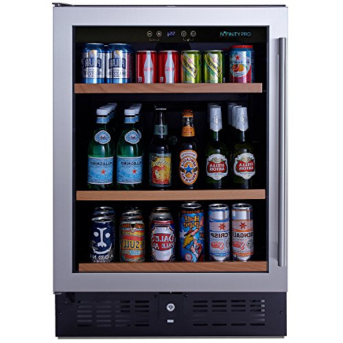 N'FINITY PRO S Beverage Center Left Hinge - Stainless Steel Door by N'FINITY