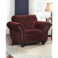 Ashley Chesterbrook Collection 8810220 51 Chair with Fabric Upholstery Flared Rolled Arms Molding Details and Traditional Style in