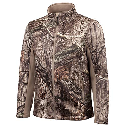 Silent Shell Jacket - Huntworth Men's Mid Weight Soft Shell Hunting Jacket, Hidden, X-Large