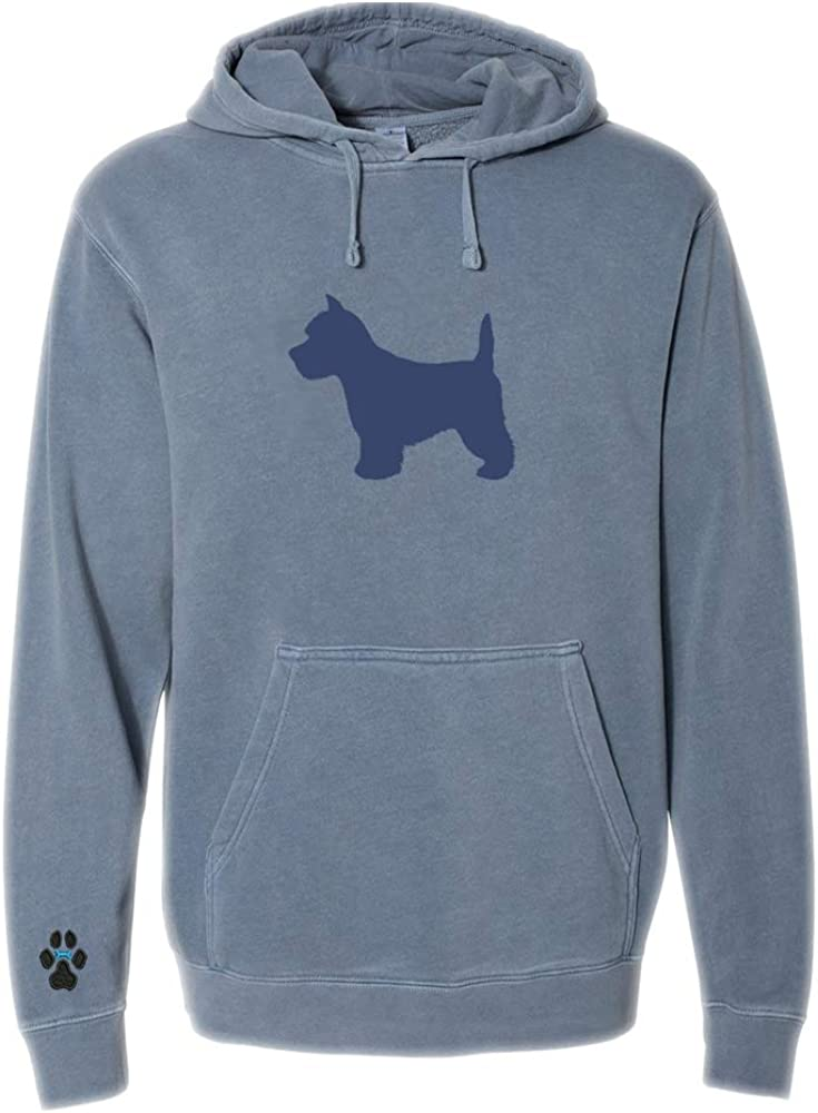 Heavyweight Pigment-Dyed Hooded Sweatshirt with/ Westie Silhouette
