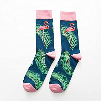 DCPPCPD Mariposa Calcetines Moda patrón Breve Funny Cotton Socks Invierno Mujer Hombre Unisex Planta Hembra de