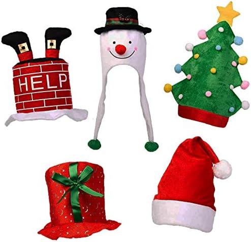 5 cappelli da festa – Ideali per accessori natalizi, divertenti per grandi e piccini, perfetti per costumi e feste in maschera