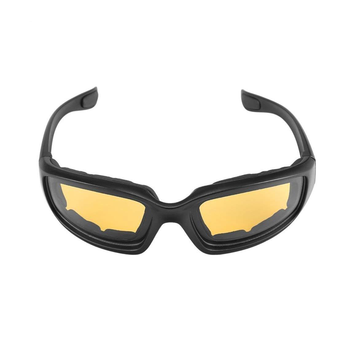 Couleur: Noir Lunettes de Protection de Moto Lunettes de Protection Anti-Vent Lunettes Anti-Yeux Lunettes de Sport Lunettes de Sport