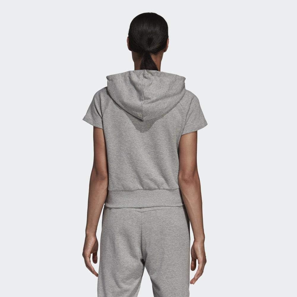 adidas Damen Women's Sport Id Hoodie Hoodie Mehrfarbig (Mittelgrau-meliert / Weiß)
