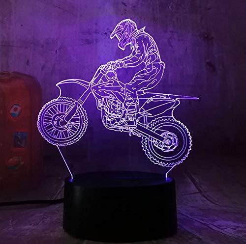 3D Lampe Illusion Optique Led Veilleuse Night Light Night Light 3D Extreme Moto Led Cool Boy Cadeau Night Light Led Lampe De Table De Bureau Night Light Gradient Enfant Anniversaire Nouvel An Cadeaux