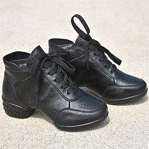 Hutt Zapatillas de Baile para Mujer, de Cuero, Talla 22.5cm-25.5cm, Negro Soft-Like Latin Dance Shoes (tamaño : 40 EU)