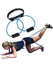 5BILLION Booty Band Set - Workout Resistance Bands - Booty Butt System for a Bikini Butt Abs Glutes Muscle Workout with Adjustable Waist Belt Carry Bag & Exercise Guide