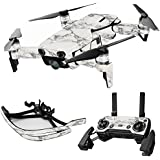 MightySkins Skin For DJI Max Coverage - White Marble | Protective, Durable, and Unique Vinyl Decal wrap cover | Easy To Apply, Remove, and Change Styles | Made in the USA