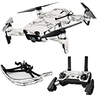 MightySkins Skin for DJI Mavic Air Drone - White Marble | Max Combo Protective, Durable, and Unique Vinyl Decal wrap cover | Easy To Apply, Remove, and Change Styles | Made in the USA
